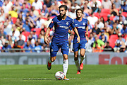 Chelsea midfielder Cesc Fabregas (4) dribbling during the FA Community Shield match between Chelsea and Manchester City at Wembley Stadium, London, England on 5 August 2018.