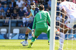 Goal, Matthew Bloomfield of Wycombe Wanderers scores, Wycombe Wanderers 1-0 Stevenage - Mandatory by-line: Jason Brown/JMP - 05/05/2018 - FOOTBALL - Adam's Park - High Wycombe, England - Wycombe Wanderers v Stevenage - Sky Bet League Two