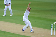 Liam Dawson of Hampshire appealing  during the Specsavers County Champ Div 1 match between Hampshire County Cricket Club and Middlesex County Cricket Club at the Ageas Bowl, Southampton, United Kingdom on 14 April 2017. Photo by David Vokes.