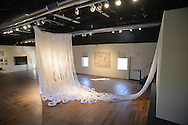 """Pieces of the installation art  """"Sumbioun"""" by PAFA grads Lauren Prince, Eliza Serocki and Brigid Tray (NOT SHOWN) at the New Hope Arts Center Friday, March 13, 2015 in New Hope,  Pennsylvania. (Photo by William Thomas Cain/Cain Images)"""