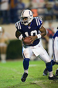 JACKSON, MS - AUGUST 26:  Quarterback Shaun King of the Indianapolis Colts drops back during a game against the New Orleans Saints on August 26, 2006 at Veterans Memorial Stadium in Jackson, Mississippi.  The Colts won 27 to 14.  (Photo by Wesley Hitt/Getty Images) *** Local Caption *** Shaun King