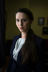 Larry Nassar accuser, Rachael Denhollander, photographed at the Kentucky State Capitol, after being recognized in Ky. Senate for being first to publicly accuse him of sexual abuse for the Courier Journal.