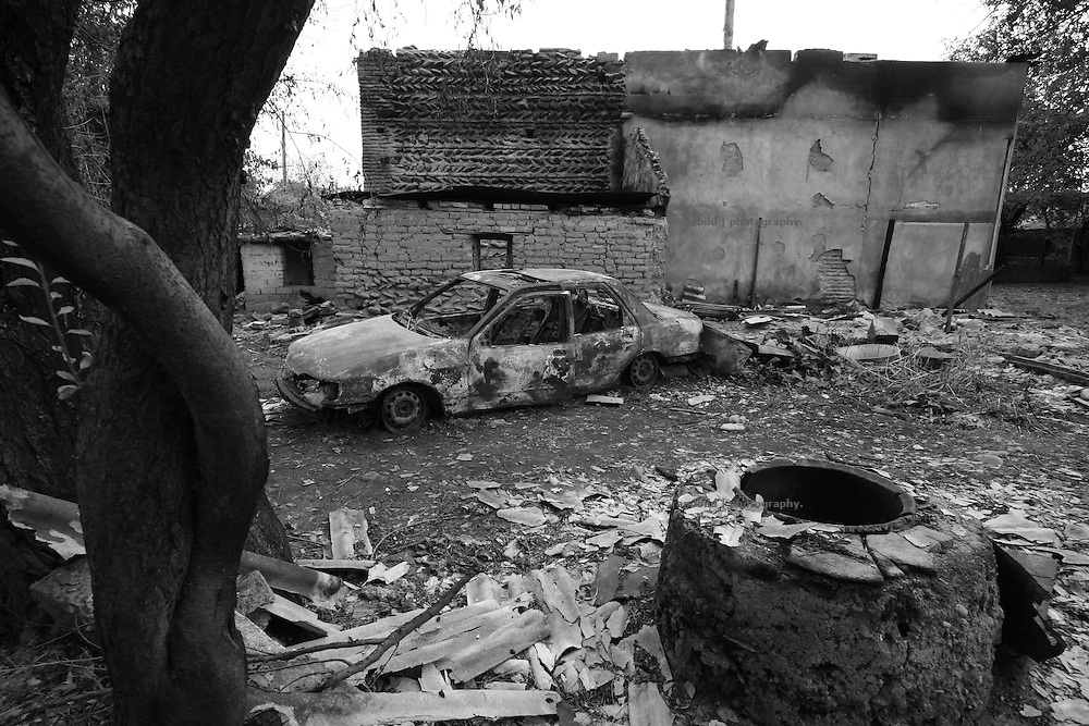 Devastation in the georgian village of Karaleti, located in the so called bufferzone between Gori and Tskhinvali, few days after the withdrawal of the russian forces from the area. The bufferzone was etablished after a short war in August 2008 as the georgian army assulted South Ossetia to overthrow the local separatist government.