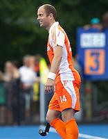 UTRECHT - Teun de Nooijer voor Oranje , zaterdag tijdens de  hockey interland tussen de mannen van Nederland en Duitsland (4-2). COPYRIGHT KOEN SUYK