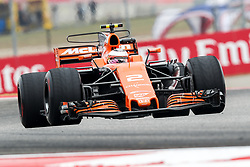 October 20, 2017 - Austin, Texas, U.S - Stoffel Vandoome of Belguim (2) n action before the Formula 1 United States Grand Prix race at the Circuit of the Americas race track in Austin,Texas. (Credit Image: © Dan Wozniak via ZUMA Wire)