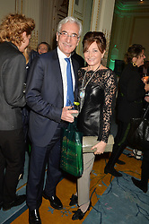 SIR RONALD COHEN and DORRIT MOUSSAIEFF at a party to celebrate the publication of The Romanovs 1613-1918 by Simon Sebag-Montefiore held at The Mandarin Oriental, 66 Knightsbridge, London on 2nd February 2016.