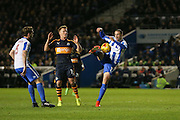 Brighton & Hove Albion centre forward Glenn Murray (17) shoots at goal during the EFL Sky Bet Championship match between Brighton and Hove Albion and Newcastle United at the American Express Community Stadium, Brighton and Hove, England on 28 February 2017. Photo by Phil Duncan.