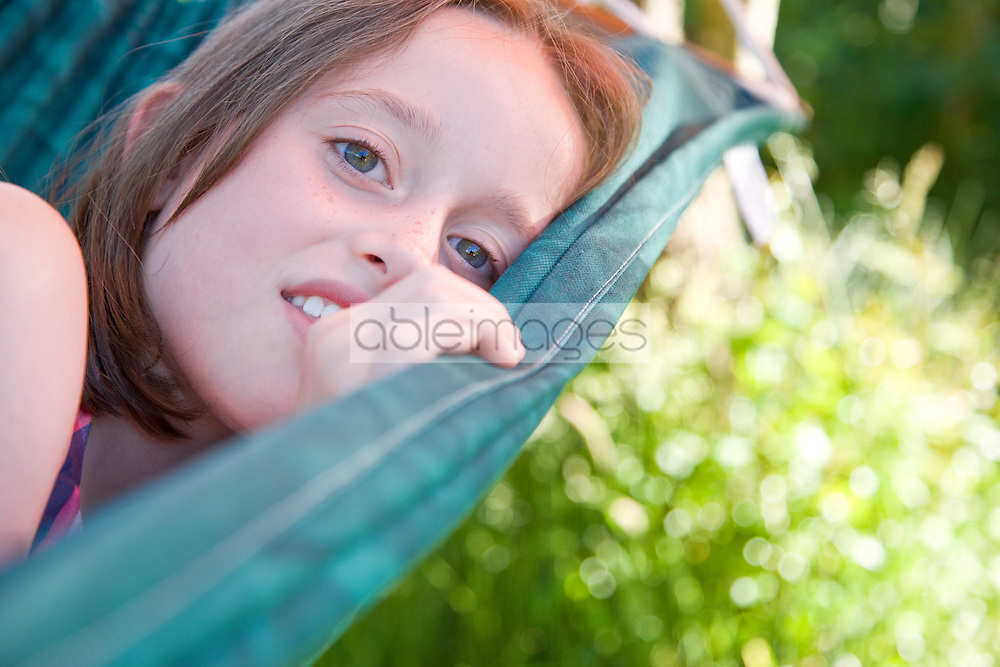 Girl Lying on a Hammock