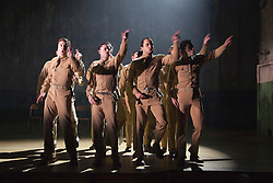 "© Licensed to London News Pictures. 16/10/2013. London, England. The Musical ""From Here to Eternity"" opens at the Shaftesbury Theatre on 23 October 2013 starring Darius Campbell, Siubhan Harrison, Robert Lonsdale and Rebecca Thornhill. This brand new musical is directed by Tamara Harvey and lyrics by Tim Rice, music by Stuart Brayson and script by Bill Oakes. Photo credit: Bettina Strenske/LNP"