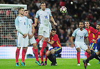 Football - 2016 / 2017 International Friendly - England vs. Spain<br /> <br />  Eric Dier and Phil Jagielka of England and Cesar Azpilicueta of Spain at Wembley.<br /> <br /> COLORSPORT/ANDREW COWIE