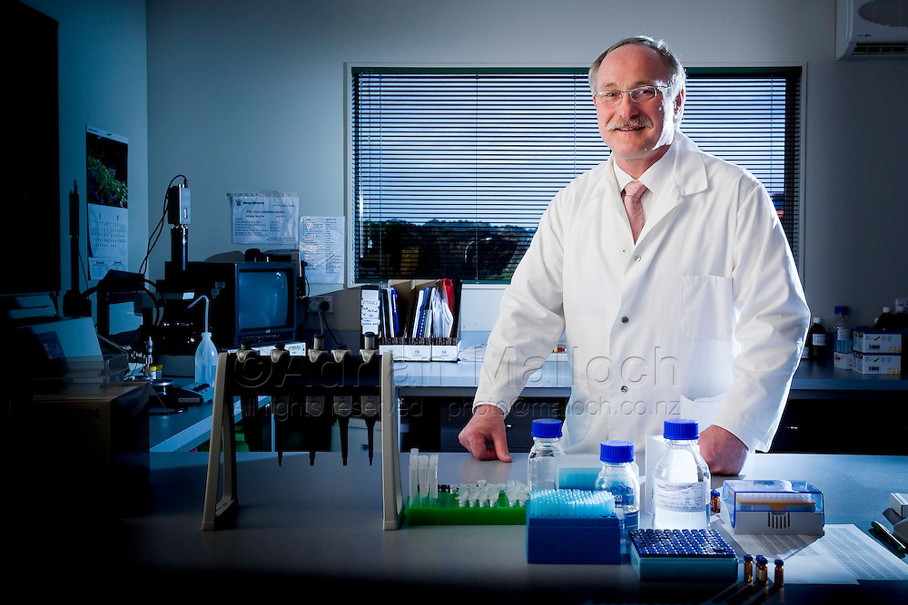 Prof Bernhard Breier in the Human Nutrition laboratory at the Massey University, Albany campus