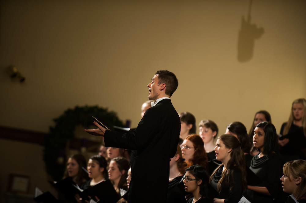 GU Concert Choir's Christmas Candlelight Concert. Photo by Rajah Bose