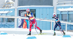 21.02.2016, Salpausselkae Stadion, Lahti, FIN, FIS Weltcup Langlauf, Lahti, Herren Skiathlon, im Bild v.l.: Martin Johnsrud Sundby (NOR), Fabiani Francesco De (ITA) // f.l.: Martin Johnsrud Sundby of Norway, Fabiani Francesco De of Italy competes during Mens Skiathlon FIS Cross Country World Cup, Lahti Ski Games at the Salpausselkae Stadium in Lahti, Finland on 2016/02/21. EXPA Pictures © 2016, PhotoCredit: EXPA/ JFK