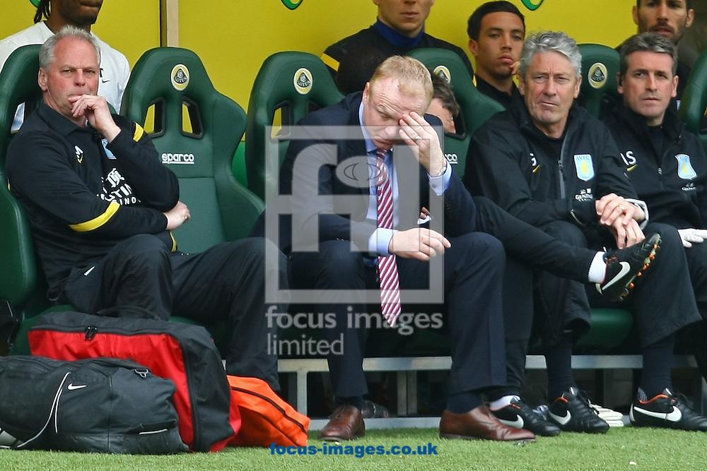 Picture by Paul Chesterton/Focus Images Ltd.  07904 640267.13/05/12.Aston Villa Manager Alex McLeish during the Barclays Premier League match at Carrow Road Stadium, Norwich.