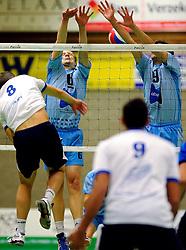 06-10-2012 VOLLEYBAL: SLIEDRECHT SPORT - ABIANT LYCURGUS 2: SLIEDRECHT<br /> Abiant Lycurgus 2 heeft in de Topdivisie Sliedrecht Sport met 1-3 verslagen. De setstanden waren 28-26, 19-25, 21-25 en 20-25 / (L-R) Roy Kroon, Jochem van Diepen, Bas Schotsman<br /> ©2012-FotoHoogendoorn.nl