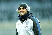 Danny Simpson (#2) of Leicester City arrives ahead of the Premier League match between Newcastle United and Leicester City at St. James's Park, Newcastle, England on 9 December 2017. Photo by Craig Doyle.