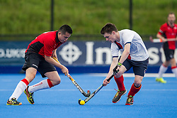 Chichester v Beestonl - Men's Cup Final, Lee Valley Hockey & Tennis Centre, London, UK on 02 May 2016. Photo: Simon Parker