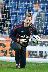 WEST BROMWICH, ENGLAND - Saturday, March 19, 2011: Arsenal's goalkeeper Manuel Almunia before the Premiership match against West Bromwich Albion at the Hawthorns. (Photo by David Rawcliffe/Propaganda)