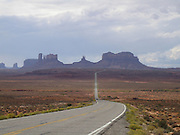 Scenic Route 163 is a long road to Monument Valley Navajo Tribal Park, Utah. Featured in movies and commercials!