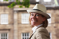 Edinburgh International Book Festival 2013 portait of Cerys Matthews at Charlotte Square Garden. She is a Welsh singer, she is best known for the lead singer of the Welsh rock band Catatonia.<br /> <br /> Pic by Pako Mera