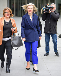 © Licensed to London News Pictures. 19/02/2017. London, UK. Secretary of State for Justice, Lord Chancellor LIZZ TRUSS (centre) leaves BBC Broadcasting House in London after an appearance on The Andrew Marr Show on BBC one on February 19, 2017. Photo credit: Ben Cawthra/LNP