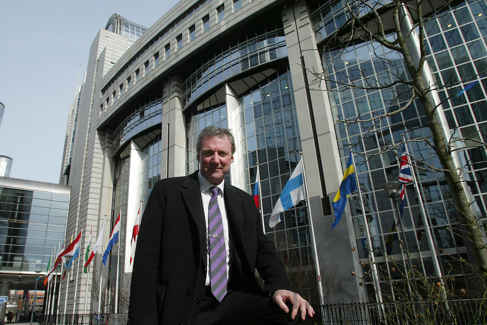 BRUSSELS - BELGIUM - 07 MARCH 2006 -- Åke (Aage) SVENSSON, CEO SAAB defence industry, at the EU Parliamant. PHOTO: ERIK LUNTANG /