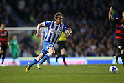 Brighton striker (on loan from Manchester United), James Wilson (21) during the Sky Bet Championship match between Brighton and Hove Albion and Queens Park Rangers at the American Express Community Stadium, Brighton and Hove, England on 19 April 2016.