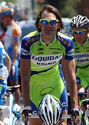 Gorazd Stangelj (SLO) of  Team Liquigas at start point of the 198 km long 3rd stage from Grado, Italy to Valdobbiadene, Italy at 92nd Giro d'Italia, on May 11, 2009, in Grado, Italy.  (Photo by Vid Ponikvar / Sportida)