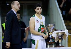 Coach of Olimpija Jure Zdovc and Saso Ozbolt at third finals basketball match of Slovenian Men UPC League between KK Union Olimpija and KK Helios Domzale, on June 2, 2009, in Arena Tivoli, Ljubljana, Slovenia. (Photo by Vid Ponikvar / Sportida)