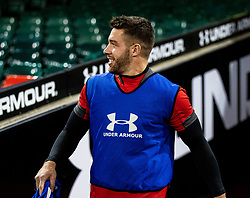 Rhys Webb of Wales makes his way onto the pitch<br /> <br /> Photographer Simon King/Replay Images<br /> <br /> Six Nations Round 1 - Wales v Italy -  Captains Run - Friday 31st January 2020 - Principality Stadium - Cardiff<br /> <br /> World Copyright © Replay Images . All rights reserved. info@replayimages.co.uk - http://replayimages.co.uk