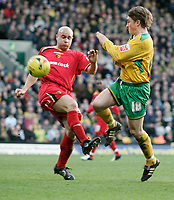 Paul McVeigh and Gavin Mahon.<br /> Norwich City v Watford, Cocal Cola Championship, 21/01/06. Photo by Barry Bland