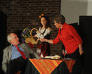 Jim (left) and Marge McCauley (right) rehearse for the Theatre Oxford's 2010 Ten Minute Play Festival in Oxford, Miss. on Wednesday, September 22, 2010. The festival is September 23, 24, & 26 at The Powerhouse.