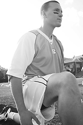 22 March 2008: North Carolina Tar Heels midfielder Sean Delaney (34) before playing the Maryland Terrapins at Fetzer Field in Chapel Hill, NC.