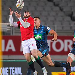 Elliot Daly takes a high ball under pressure from Sonny Bill Williams during the 2017 DHL Lions Series rugby union match between the Blues and British & Irish Lions at Eden Park in Auckland, New Zealand on Wednesday, 7 June 2017. Photo: Dave Lintott / lintottphoto.co.nz