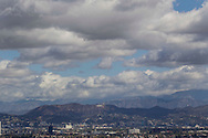 Storm clouds gather over the Hollywood sign in Los Angeles, California, U.S., on Wednesday, March 2, 2014. Forecasters are saying that a cold low-pressure system that originated in the Gulf of Alaska threatened snowfall at low elevations in the Southland today, prompting the issuance of a winter weather advisory in the San Gabriel<br /> Mountains in Los Angeles and Ventura counties.(Photo by Ringo Chiu/PHOTOFORMULA.com)