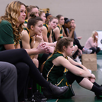 5th year forward Charlotte Kot (1) of the Regina Cougars during the 5th year night on February  11 at Centre for Kinesiology, Health and Sport. Credit: Arthur Ward/Arthur Images