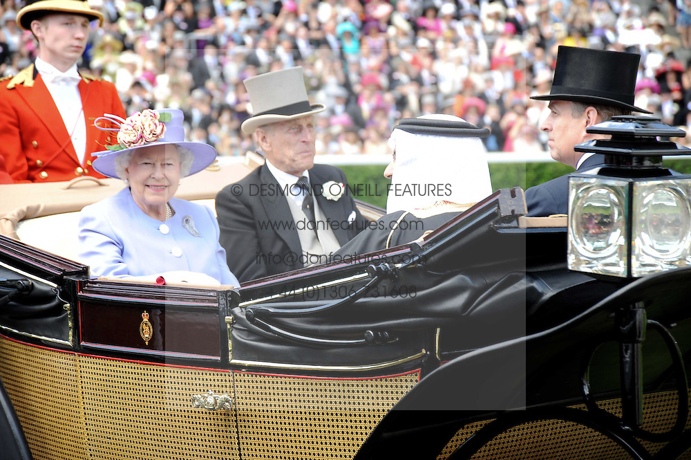 HM The QUEEN and HRH The DUKE OF EDINBURGH at the third day of the Royal Ascot 2010 (Ladies Day) Racing Festival at Ascot Racecourse, Bershire on 17th June 2010.