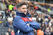 Bristol City manager Lee Johnson during the EFL Sky Bet Championship match between Hull City and Bristol City at the KCOM Stadium, Kingston upon Hull, England on 5 May 2019.