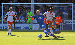 Marcus Maddison of Peterborough United turns away from Curtis Tilt of Blackpool - Mandatory by-line: Joe Dent/JMP - 29/09/2018 - FOOTBALL - ABAX Stadium - Peterborough, England - Peterborough United v Blackpool - Sky Bet League One