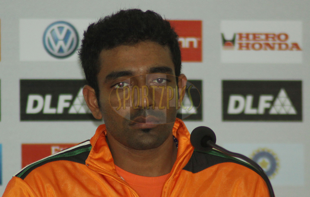 Pune Warriors player Robin Uthappa during the press confrence after the  match 62 of the Indian Premier League ( IPL ) Season 4 between the Pune Warriors and the Deccan Chargers held at the Dr DY Patil Sports Academy, Mumbai India on the 16th May 2011..Photo by Sandeep Shetty/BCCI/SPORTZPICS.