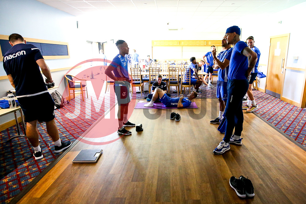 Bristol Rovers players during the first day of preseason training ahead of the 2019/20 Sky Bet League One Season - Mandatory by-line: Robbie Stephenson/JMP - 27/06/2019 - FOOTBALL - The Lawns - Bristol, England - Bristol Rovers Return for Preseason Training