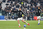 Juventus Forward Cristiano Ronaldo shoots at goal in warm up during the Champions League Group H match between Juventus FC and Manchester United at the Allianz Stadium, Turin, Italy on 7 November 2018.