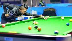January 12, 2019 - Qinhuangdao, Qinhuangdao, China - Qinhuangdao, CHINA-The One Road One Belt Chinese Billiards International Open Contest is held in Qinhuangdao, north China's Hebei Province. (Credit Image: © SIPA Asia via ZUMA Wire)