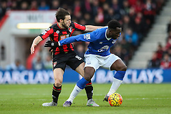 Harry Arter of Bournemouth tackles Romelu Lukaku of Everton - Mandatory by-line: Jason Brown/JMP - Mobile 07966 386802 28/11/2015 - SPORT - FOOTBALL - Bournemouth, Vitality Stadium - AFC Bournemouth v Everton - Barclays Premier League