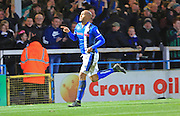 GOAL Calvin Andrew celebrates scoring 2-0 during the EFL Sky Bet League 1 match between Rochdale and Chesterfield at Spotland, Rochdale, England on 26 December 2016. Photo by Daniel Youngs.