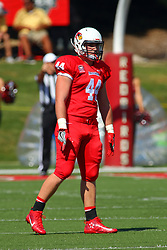 17 September 2016: Jake Hendershot.   NCAA FCS Football game between Eastern Illinois Panthers and Illinois State Redbirds for the 105th Mid-America Classic on Family Dat at Hancock Stadium in Normal IL (Photo by Alan Look)