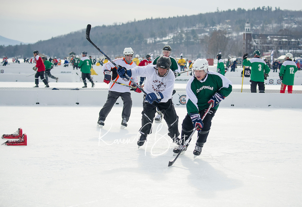 New England Pond Hockey Classic on Meredith Bay.  Karen Bobotas/for the Laconia Daily Sun