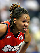 Charlotte Sting forward Monique Currie during this WNBA game between the Mystics and the Sting at the Verizon Center in Washington, DC. The Mystics won 87-70.  June 13, 2006  (Photo by Mark W. Sutton)