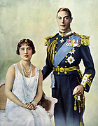 King George VI and Queen Elizabeth of Great Britain. Reigned 1936-1952