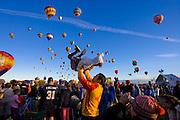 Mass ascension at the Albuquerque International Balloon Fiesta
